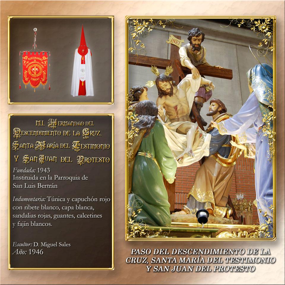 Paso del Descendimiento de la Cruz Santa María del Testimonio y San Juan del Protesto
